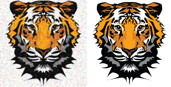 Raster to vector by illustrator