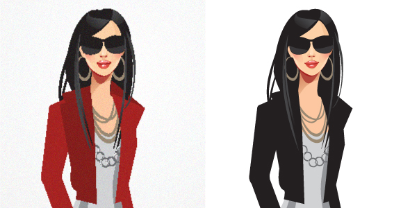 Re-draw by illustrator