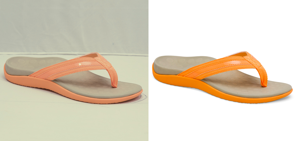 Color Adjustment : Shoe Color Correction